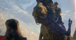 Iron Sky: The Coming Race features Nazis riding dinosaurs like they're horses